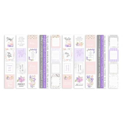 Papierowe paski do tworzenia kartek i scrapbookingu - Fabrika Decoru - Majestic Iris-zestaw 5 pasków