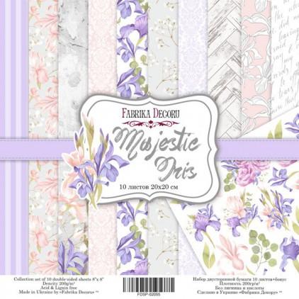 Zestaw papierów do tworzenia kartek i scrapbookingu 20 x 20 - Fabrika Decoru -Majestic Iris