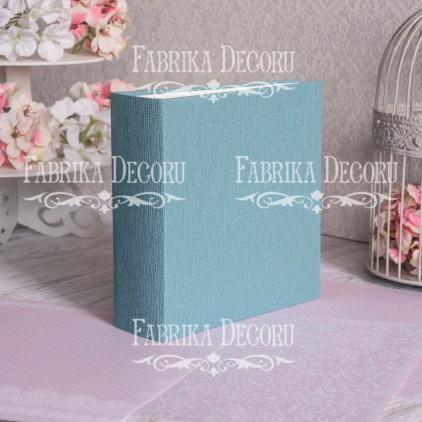 Baza albumowa kwadratowa- tekstura - Dark Torquoise - 20x20x7 cm - Fabrika Decoru