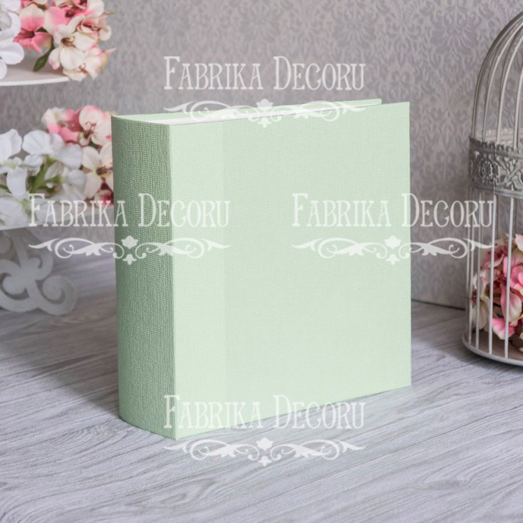 Baza albumowa kwadratowa- tekstura -Light green - 20x20x7 cm - Fabrika Decoru