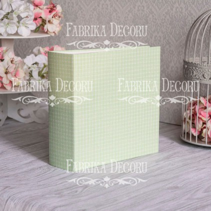 Album base square- Texture - Light green mood - 20x20x7 cm - Fabrika Decoru