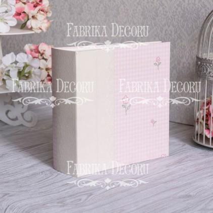 Baza albumowa kwadratowa- tekstura - Hello Girl - 20x20x7 cm - Fabrika Decoru