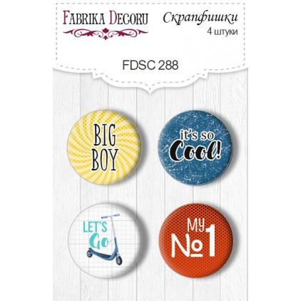 Selfadhesive buttons/badge - Fabrika Decoru - Cool teens 288