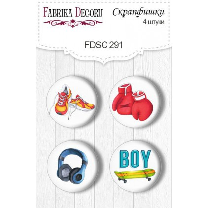 Selfadhesive buttons/badge - Fabrika Decoru - Cool teens 291
