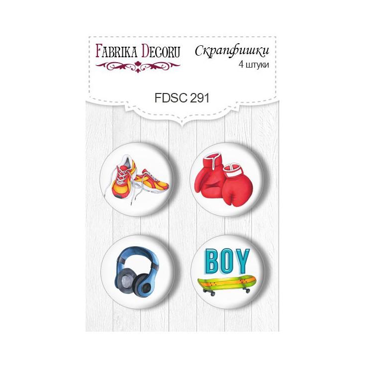 Selfadhesive buttons/badge - Fabrika Decoru - Cool teens 291