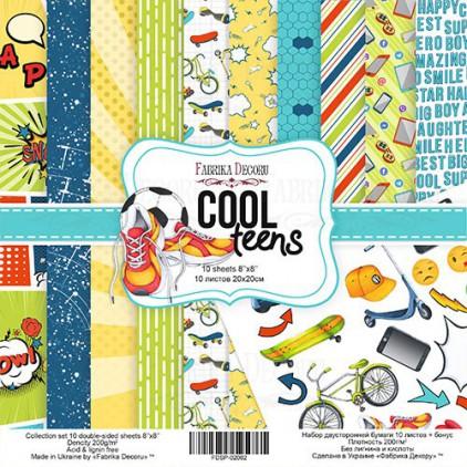 Zestaw papierów do tworzenia kartek i scrapbookingu 20 x 20 - Fabrika Decoru -Cool Teens