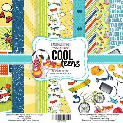 Zestaw papierów do tworzenia kartek i scrapbookingu - Fabrika Decoru - Cool Teens