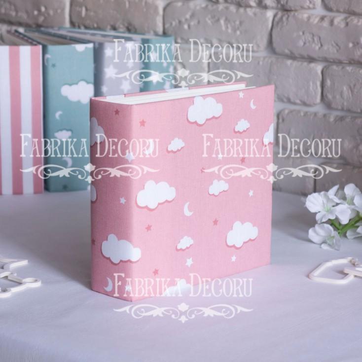 Album base square- Textile - Pink cloud - 20x20x7 cm - Fabrika Decoru