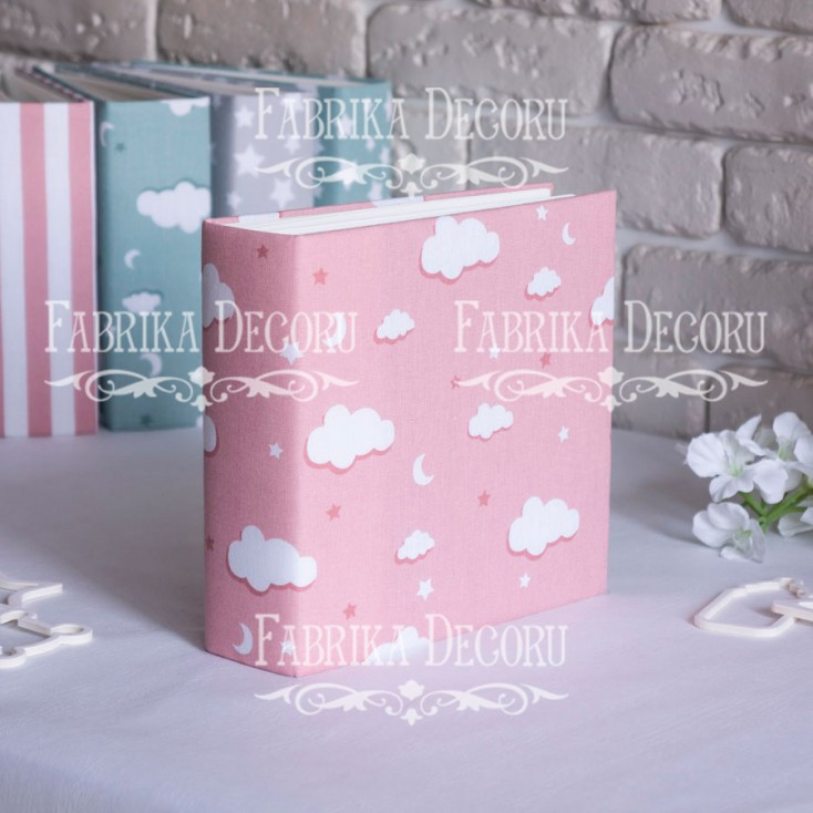 Baza albumowa kwadratowa- materiał - Pink cloud- 20x20x7 cm - Fabrika Decoru