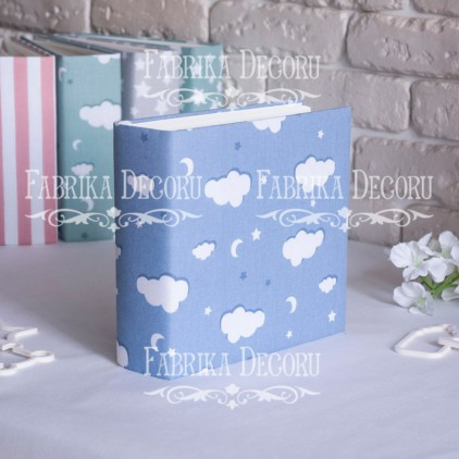 Album base square- Textile - Blue clouds - 20x20x7 cm - Fabrika Decoru
