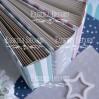 Album base square- Textile - Blue clouds - 20x20x7 cm - Fabrika Decoru