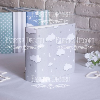 Album base square- Textile - Grey clouds - 20x20x7 cm - Fabrika Decoru