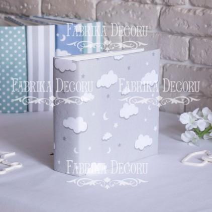 Baza albumowa kwadratowa- materiał - Grey clouds - 20x20x7 cm - Fabrika Decoru