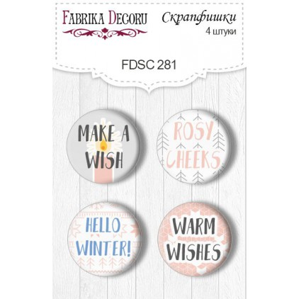 Selfadhesive buttons/badge - Fabrika Decoru - Huge winter 281