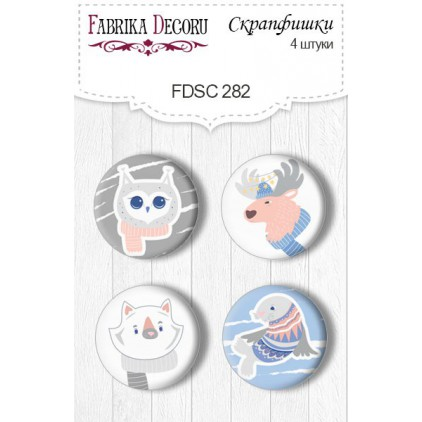 Selfadhesive buttons/badge - Fabrika Decoru -Huge winter 282