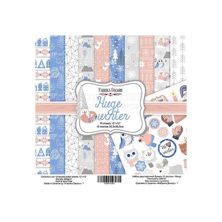 Zestaw papierów do tworzenia kartek i scrapbookingu - Fabrika Decoru -Huge winter