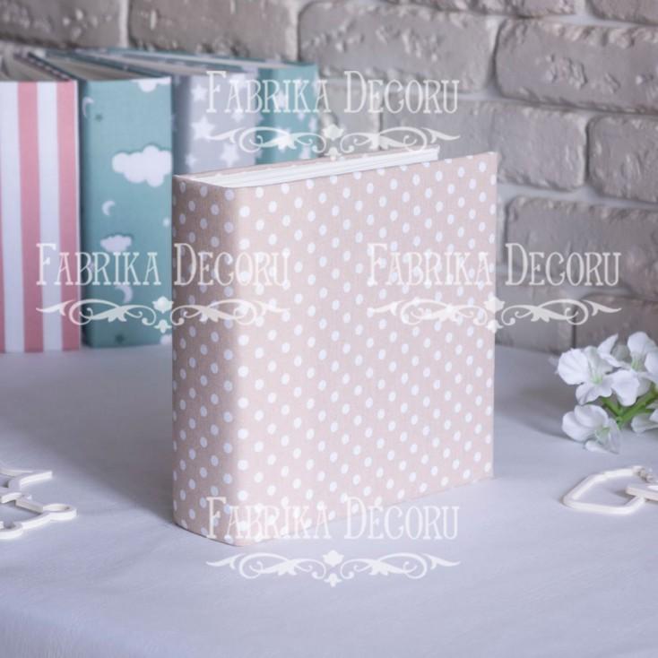 Album base square- Textile - Peas in beige- 20x20x7 cm - Fabrika Decoru