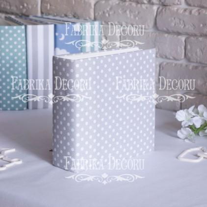 Baza albumowa kwadratowa- materiał - Peas in gray- 20x20x7 cm - Fabrika Decoru