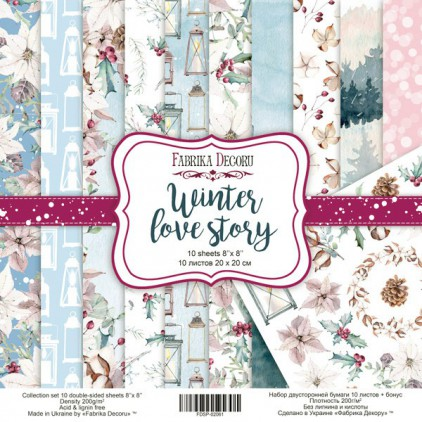 Set of scrapbooking papers - Fabrika Decoru 20 x 20 -Winter love story