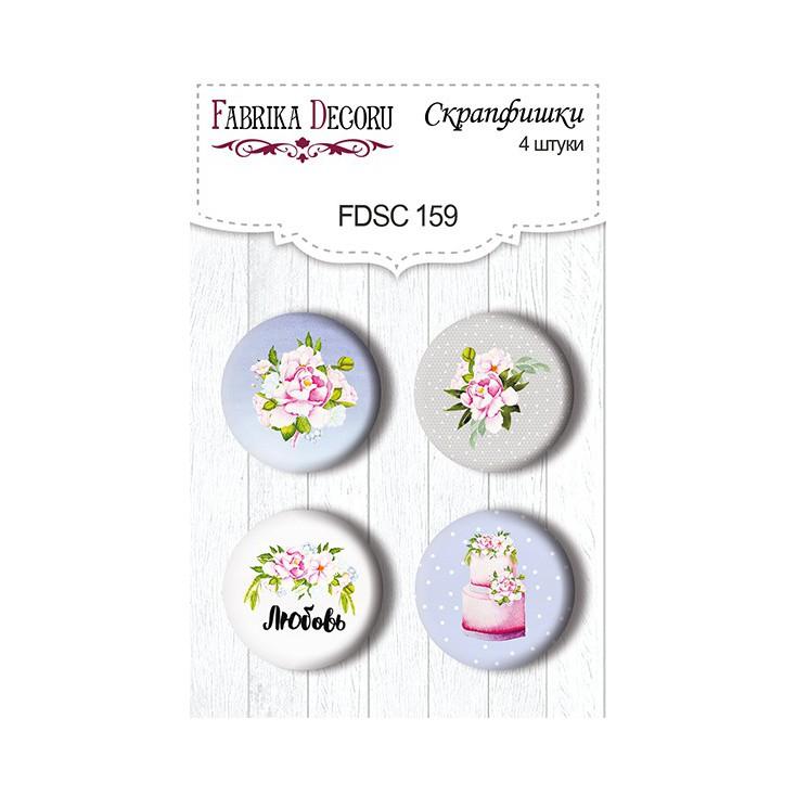 Selfadhesive buttons/badge - Fabrika Decoru - Wedding of our dream 159