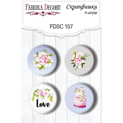Selfadhesive buttons/badge - Fabrika Decoru - Wedding of our dream 157