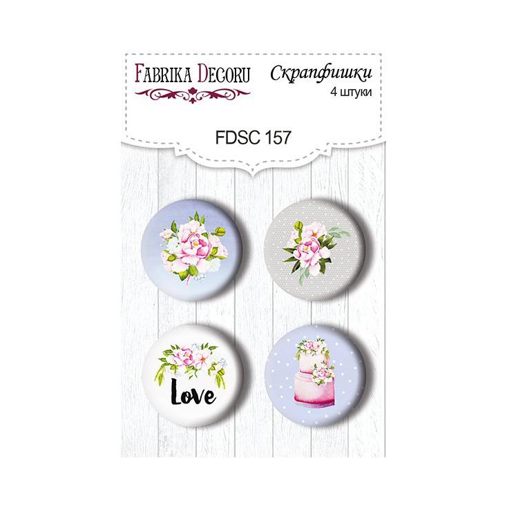 Selfadhesive buttons/badge - Fabrika Decoru - Wedding of our dream 157