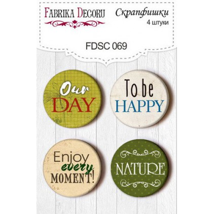 Selfadhesive buttons/badge - Fabrika Decoru - Botany Summer 069