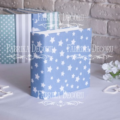 Album base square- Textile - Blue Stars - 20x20x7 cm - Fabrika Decoru