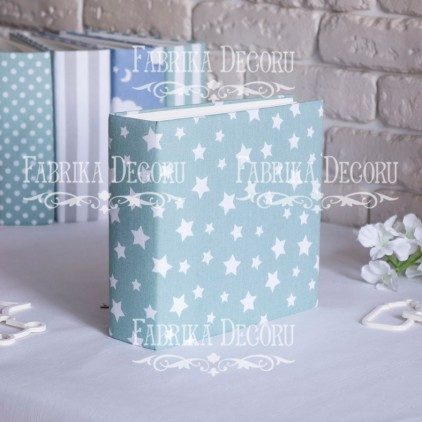 Album base square- Textile - Mint Stars - 20x20x7 cm - Fabrika Decoru