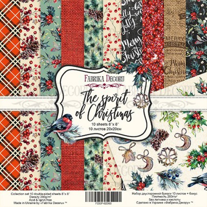 Set of scrapbooking papers - Fabrika Decoru 20 x 20 -The spirit of Christmas