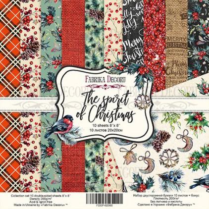 Zestaw papierów do tworzenia kartek i scrapbookingu  20 x 20 - Fabrika Decoru -The spirit of Christmas