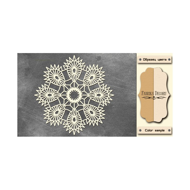 Tatting napkin - Chipboard - Fabrika Decoru FDCH231