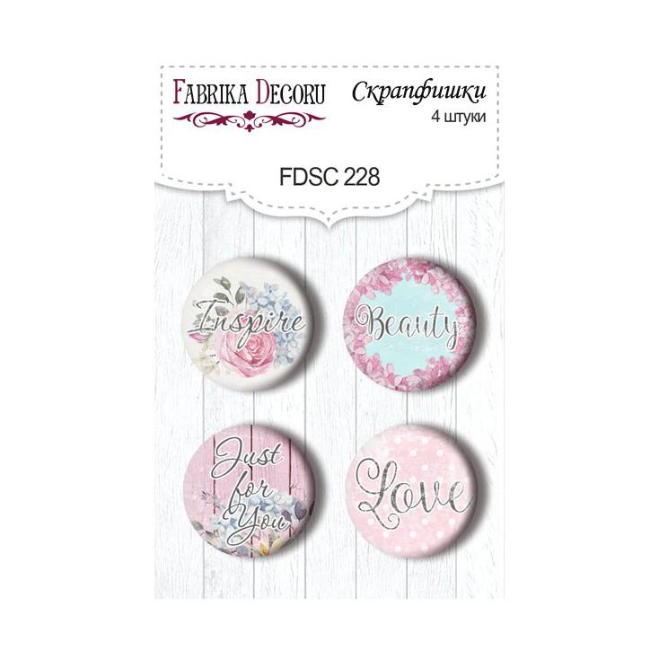 Selfadhesive buttons/badge - Fabrika Decoru -Shaby Garden- 228
