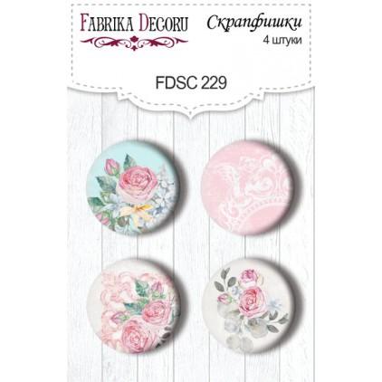 Selfadhesive buttons/badge - Fabrika Decoru - Shabby Garden 229