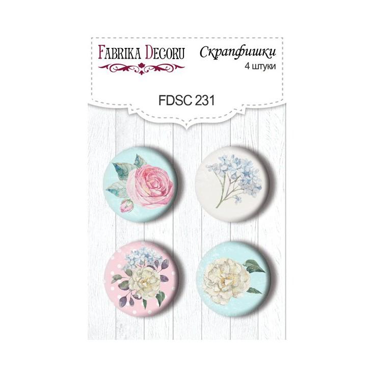Selfadhesive buttons/badge - Fabrika Decoru - Shabby garden -231