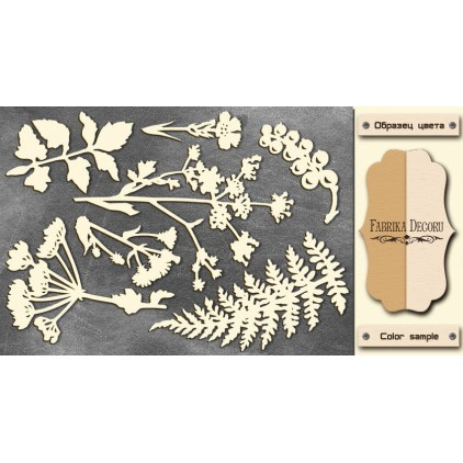 Set of cardboard - Chipboard - Fabrika Decoru - Botany Summer FDCH 77