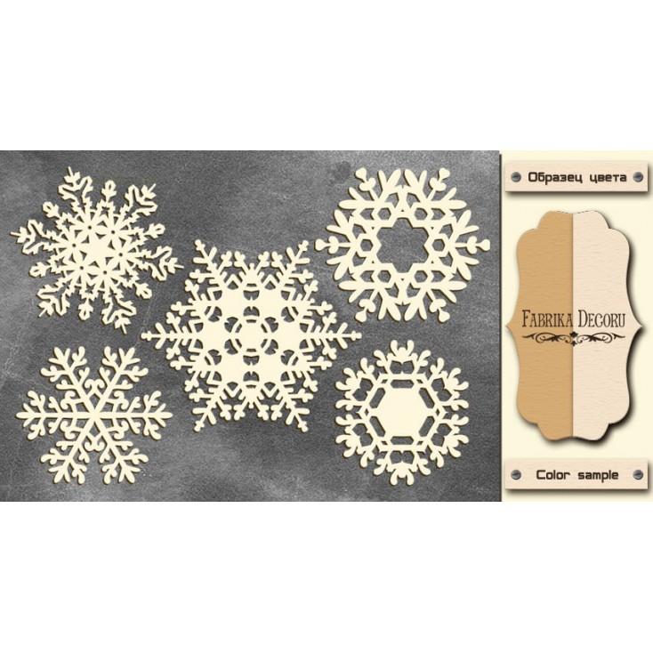 Zestaw tekturek - Tekturka - Fabrika Decoru - Snowflakes 4-FDCH 39