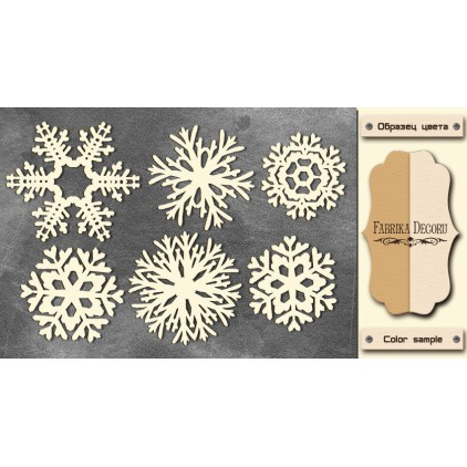 Set of cardboard - Chipboard - Fabrika Decoru - Snowflakes 1-FDCH 42
