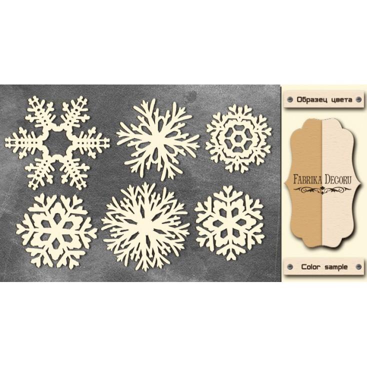 Set of cardboard - Chipboard - Fabrika Decoru - Snowflakes 1-FDCH 42