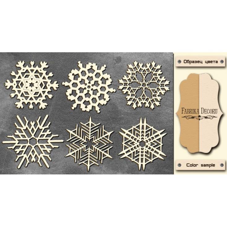 Set of cardboard - Chipboard - Fabrika Decoru - Snowflakes 3-FDCH 68