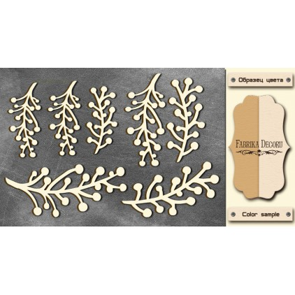 Set of cardboard - Chipboard - Fabrika Decoru -Twigs maxi-FDCH 56