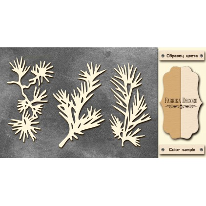 Zestaw tekturek - Tekturka - Fabrika Decoru - Conifer twigs -FDCH 57