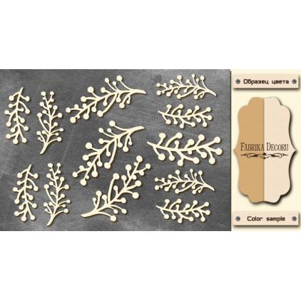 Set of cardboard - Chipboard - Fabrika Decoru -Twigs- FDCH 69