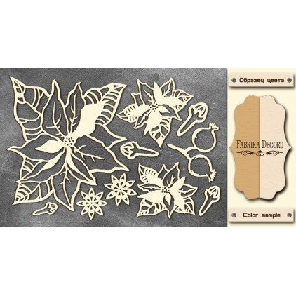 Set of cardboard - Chipboard - Fabrika Decoru -Botany winter 2-FDCH 99