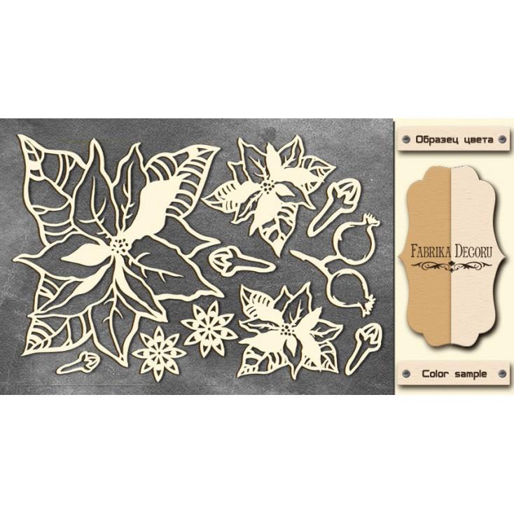 Set of cardboard - Chipboard - Fabrika Decoru -Botany winter 2-FDCH 99