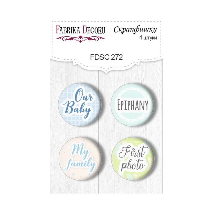 Selfadhesive buttons/badge - Fabrika Decoru - Puffy Fluffy BOY - 272