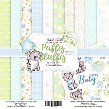 Set of scrapbooking papers - Fabrika Decoru 20 x 20 -Puffy Fluffy BOY