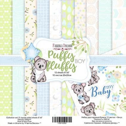 Zestaw papierów do tworzenia kartek i scrapbookingu 20 x 20 - Fabrika Decoru -Puffy Fluffy BOY