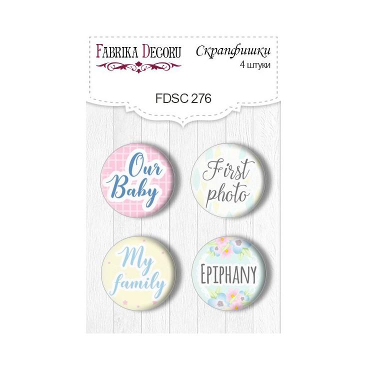 Selfadhesive buttons/badge - Fabrika Decoru - Puffy Fluffy GIRL - 276