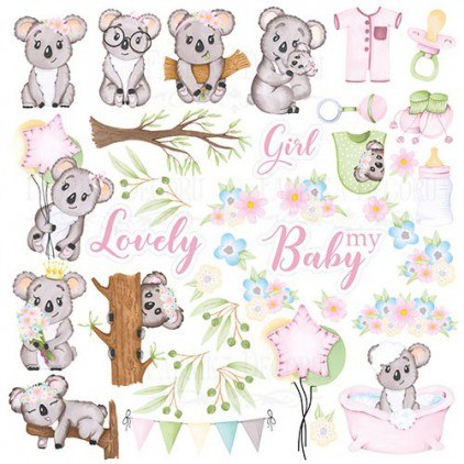 Scrapbooking paper - Fabrika Decoru -Puffy Fluffy GIRL - Pictures for cutting